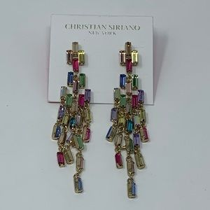 NWT Christian Siriano Shimmer Chandelier Earring